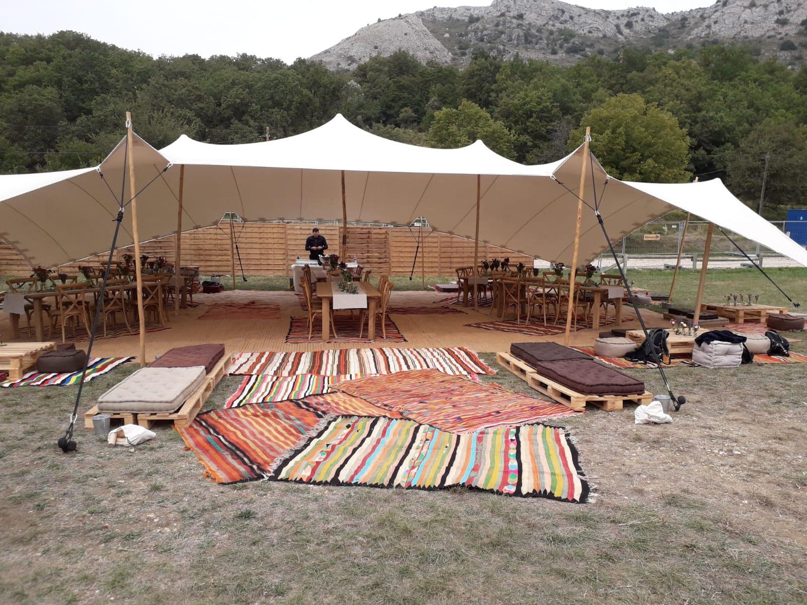 stretch tente 150m2